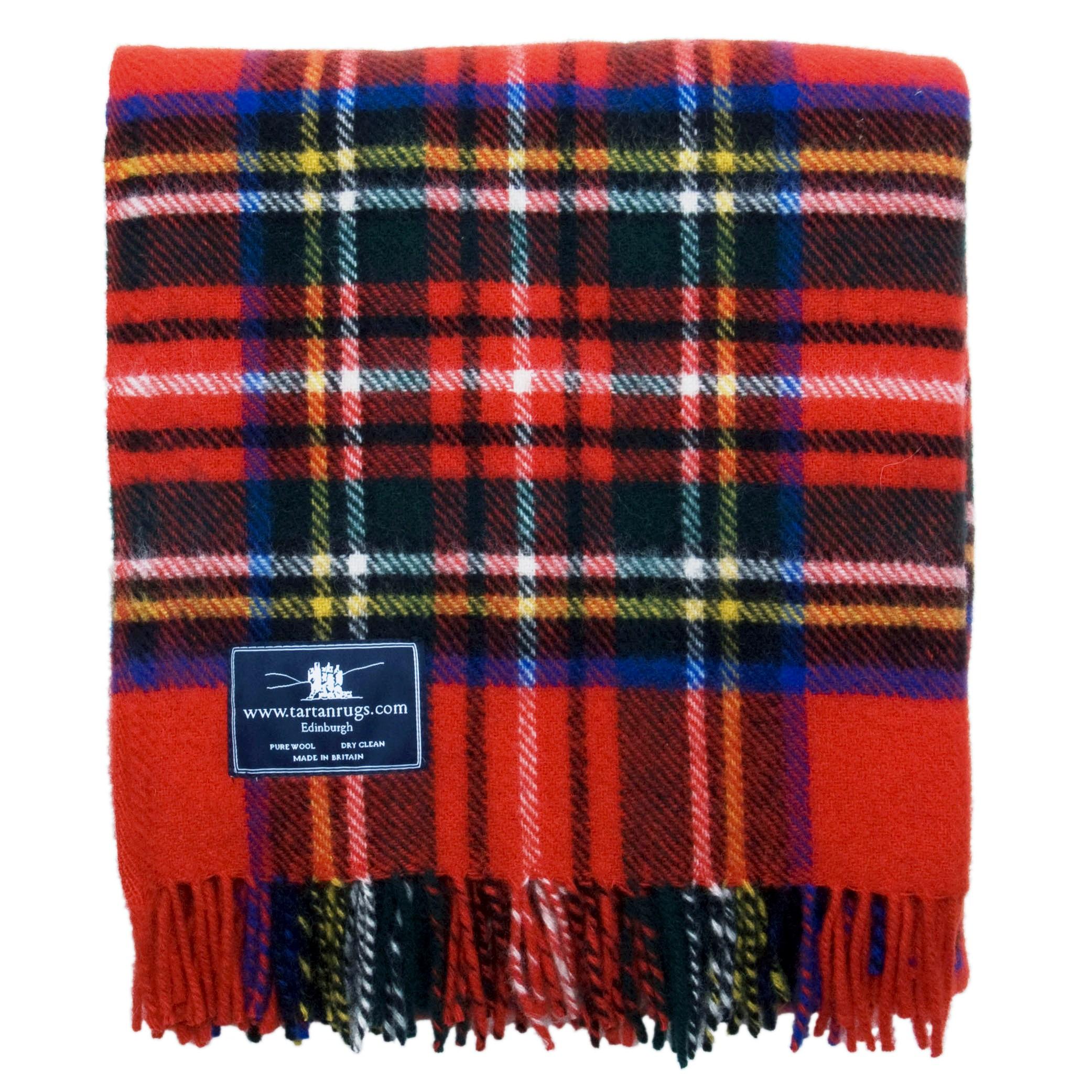 Royal Stewart Tartan Premium Wool Travel Rug