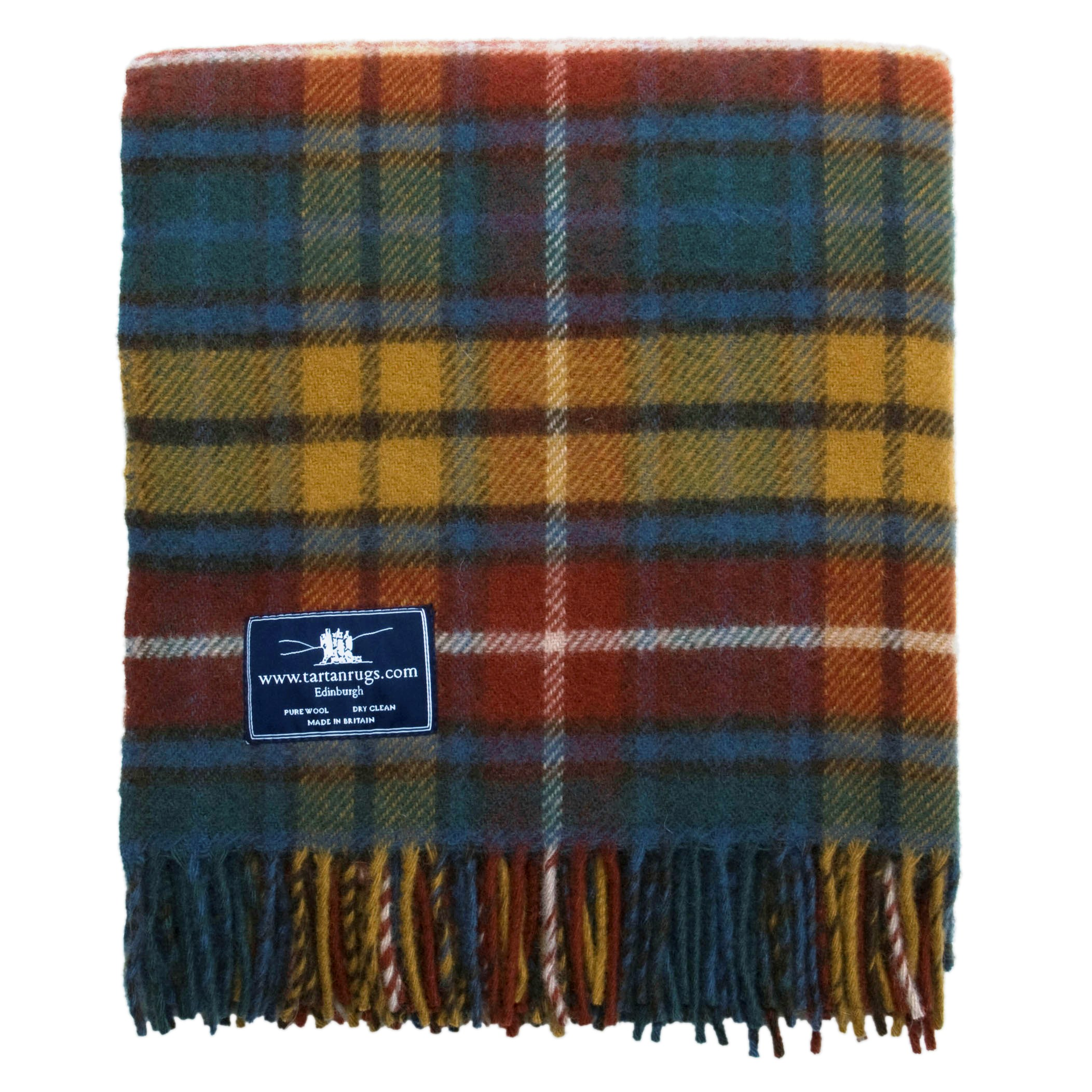 Tweedmill Antique Buchanan Tartan Premium Wool Travel Rug