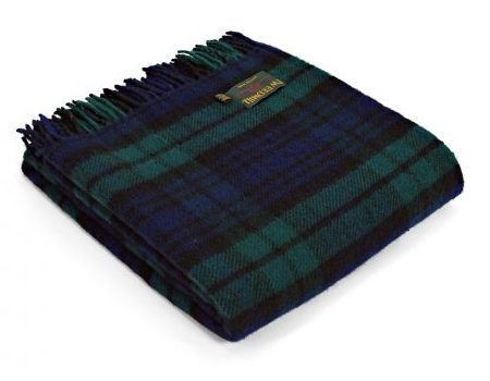Black Watch Tartan Premium Wool Travel Rug