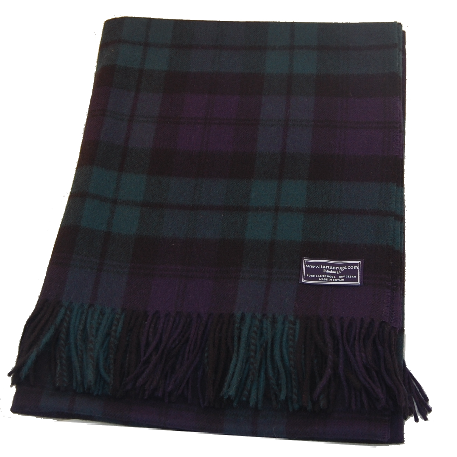 Bronte Black Watch Tartan Lambswool Travel Rug