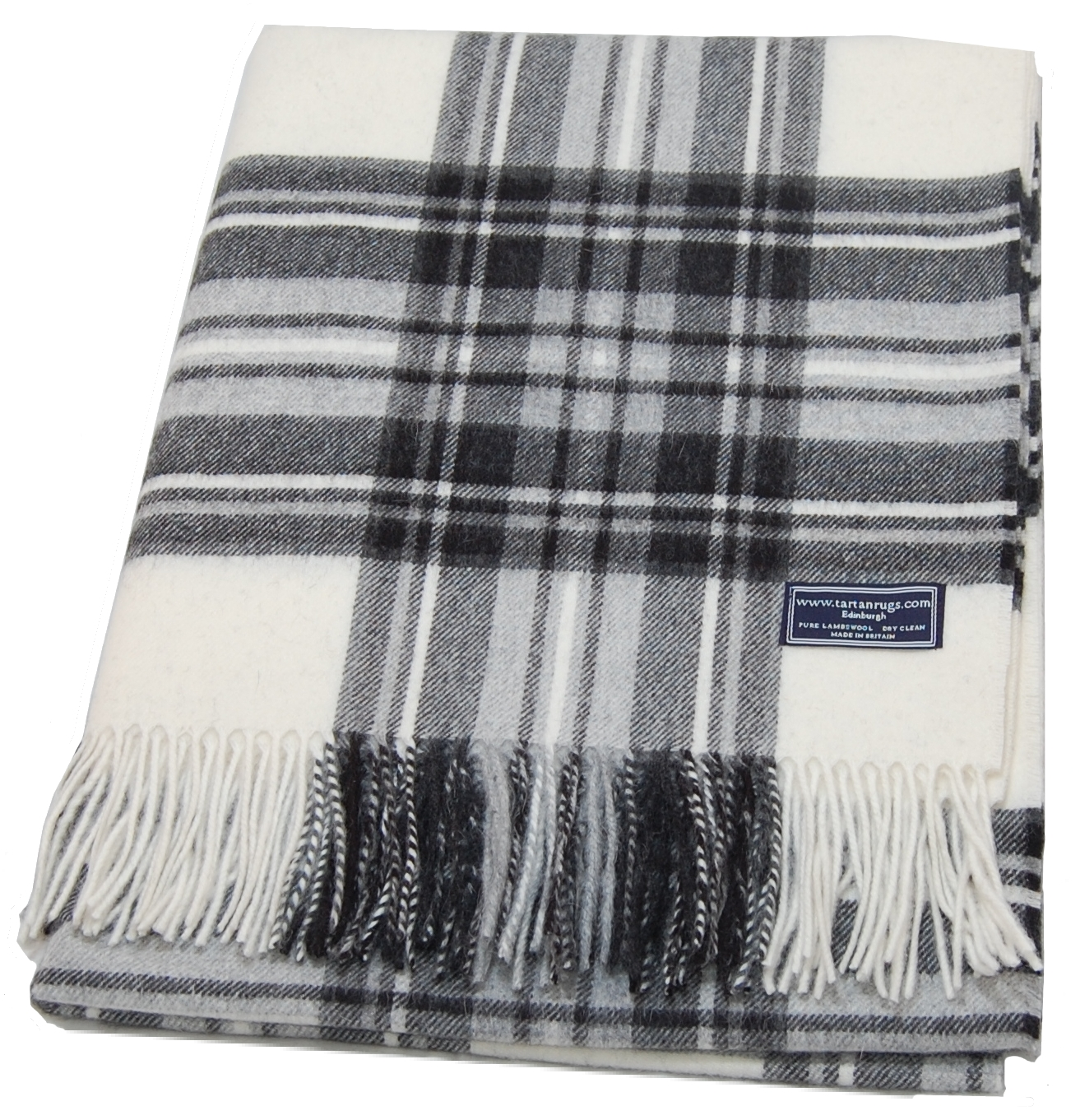 Bronte Dress Gray Tartan Lambswool Travel Rug