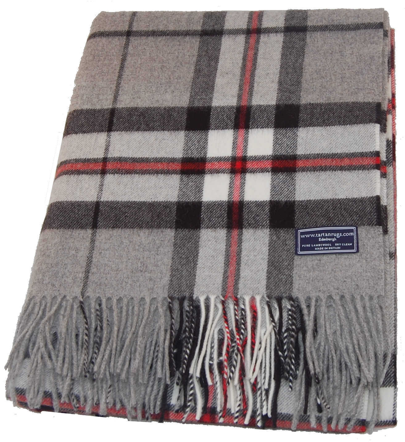 grey thomson tartan lambswool travel rug. Black Bedroom Furniture Sets. Home Design Ideas