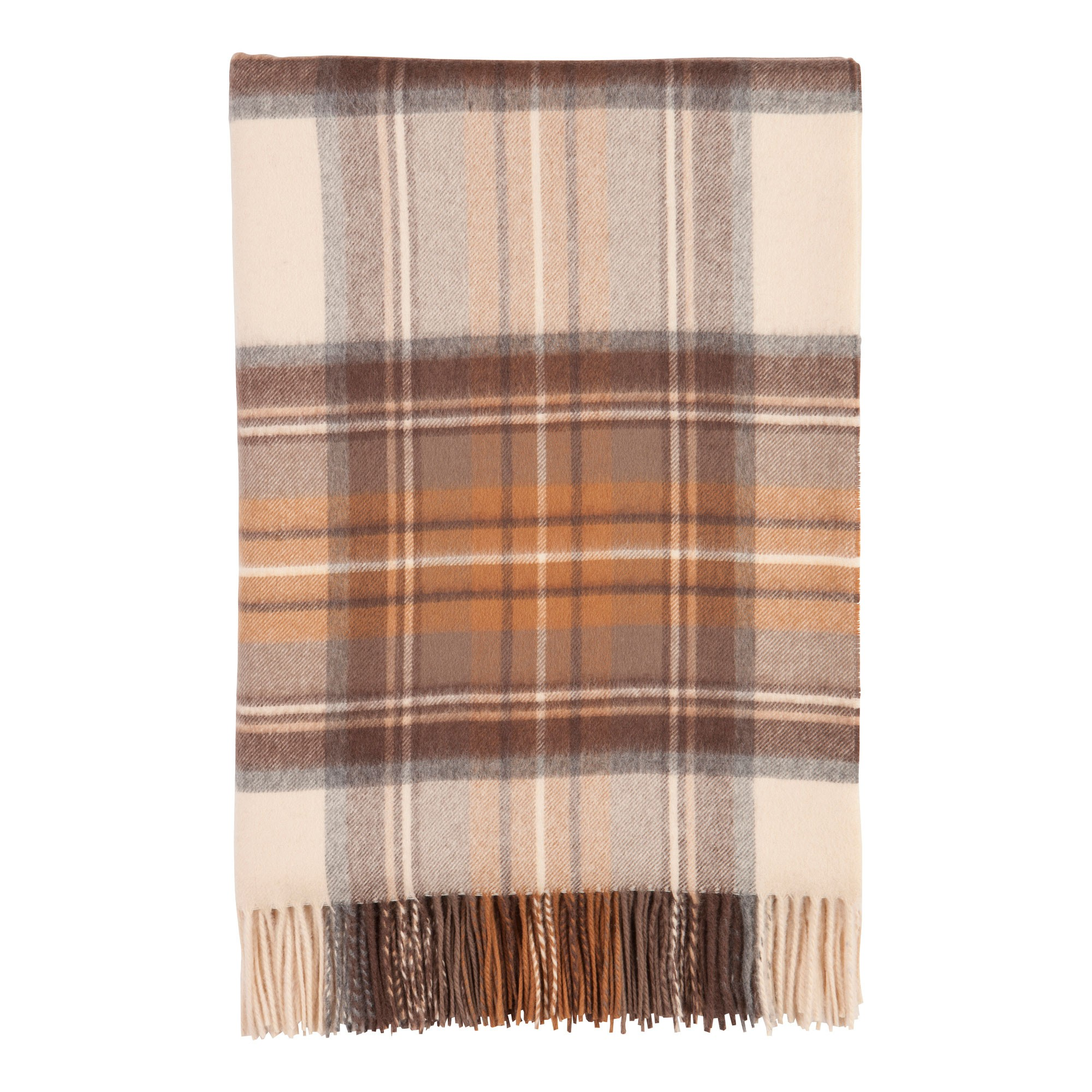 Johnstons Of Elgin Natural Dress Tartan Lambswool Travel Rug