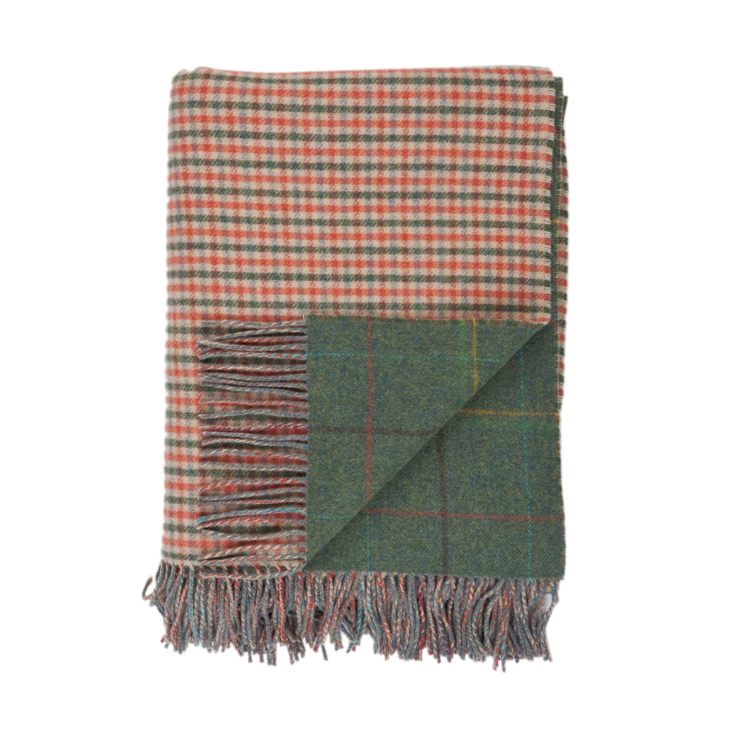 Johnstons Of Elgin Reversible Lambswool Tartan Travel Rugs
