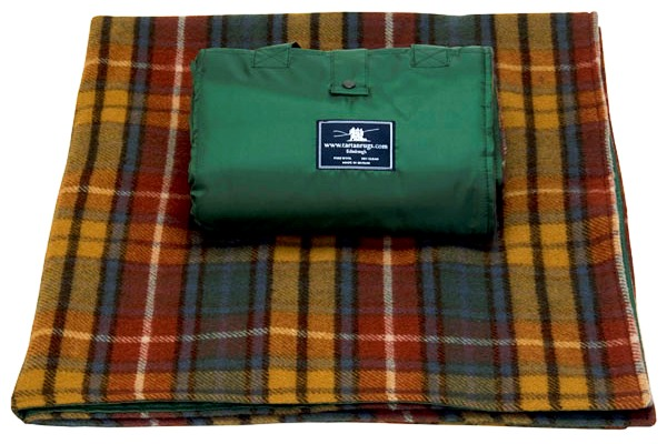 Antique Buchanan Tartan Waterproof Wool Picnic Rug