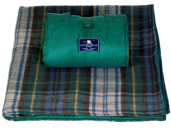 Antique Dress Gordon Tartan Waterproof Picnic Rug