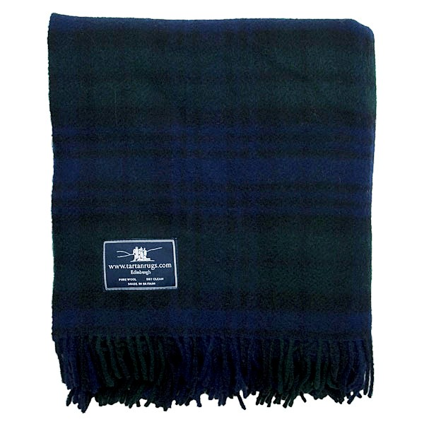 Tweedmill Black Watch Tartan Premium Wool Travel Rug