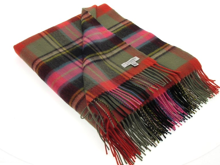 Lochcarron Ancient Bruce of Kinnaird Tartan Lambswool Travel Rug