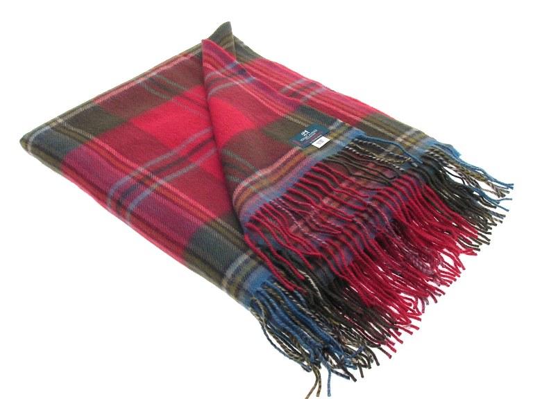 Lochcarron Weathered Maclean of Duart Tartan Lambswool Travel Rug