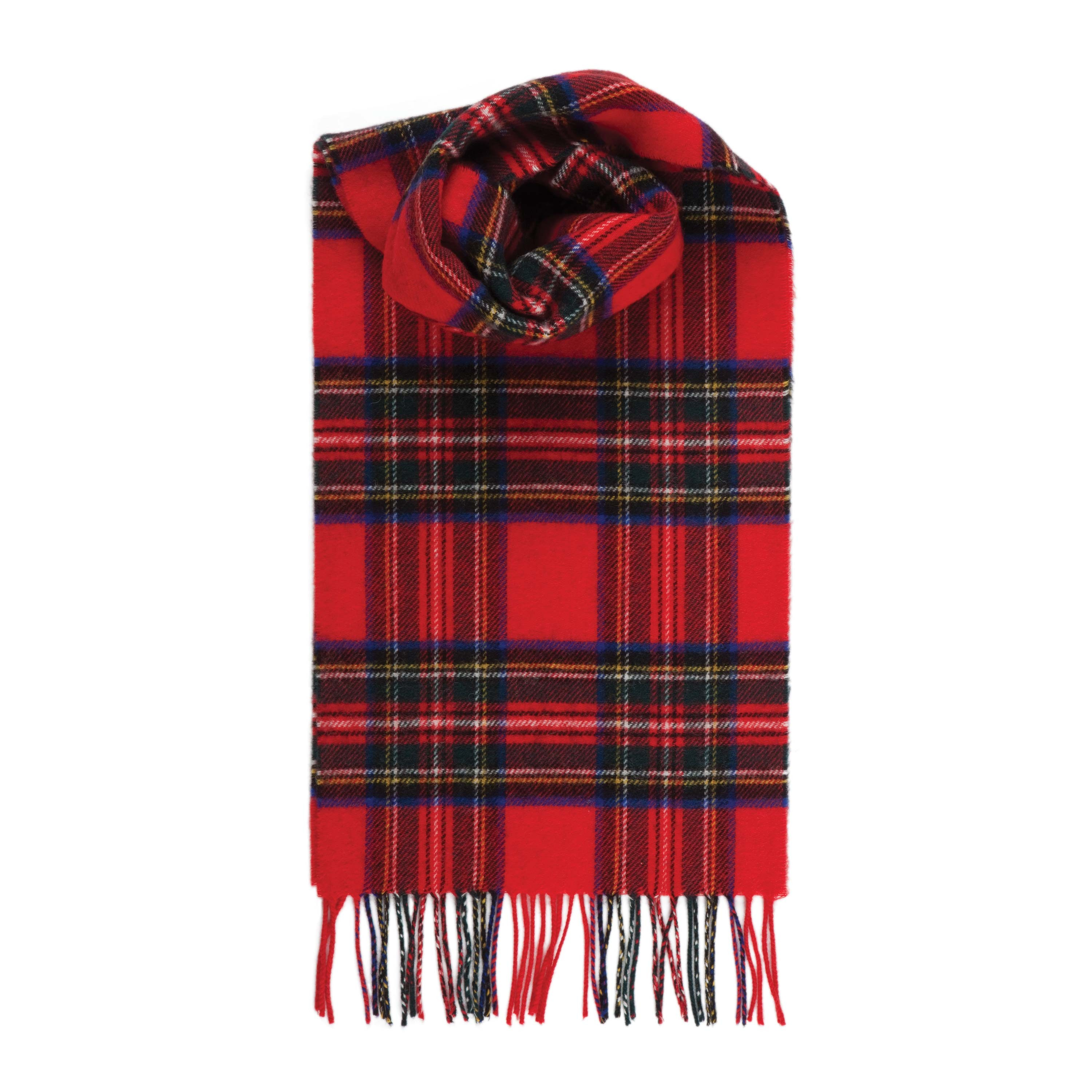 Johnstons Of Elgin Royal Stewart Tartan Cashmere Scarf