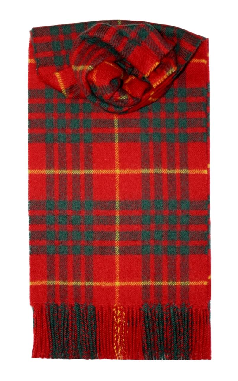 Lochcarron Cameron Clan Tartan Lambswool Scarf