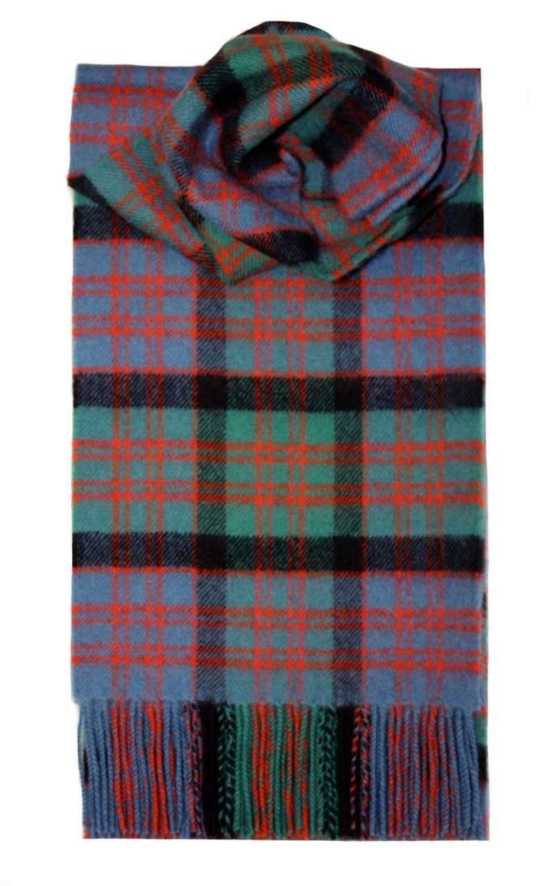 Lochcarron Ancient Macdonald Clan Tartan Lambswool Scarf