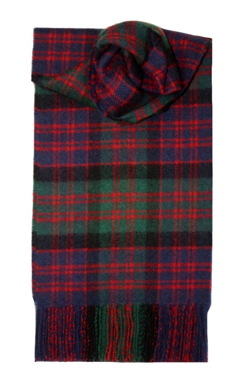 Lochcarron Macdonald Clan Tartan Lambswool Scarf