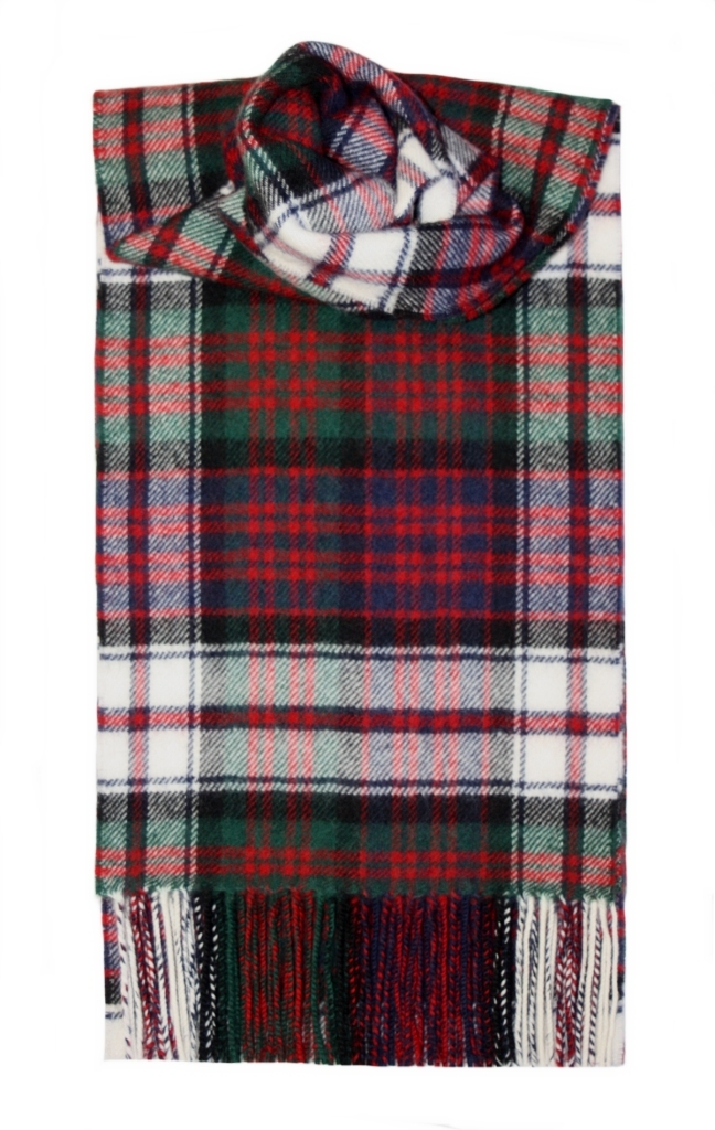 Lochcarron Macdonald Dress Tartan Lambswool Scarf