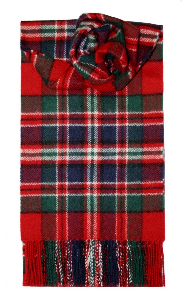 Lochcarron Macfarlane Clan Tartan Lambswool Scarf