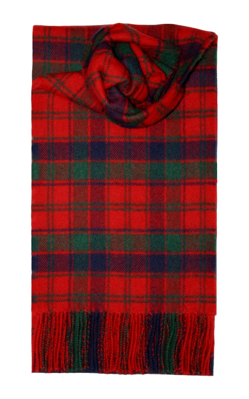 Lochcarron Red Robertson Tartan Lambswool Scarf