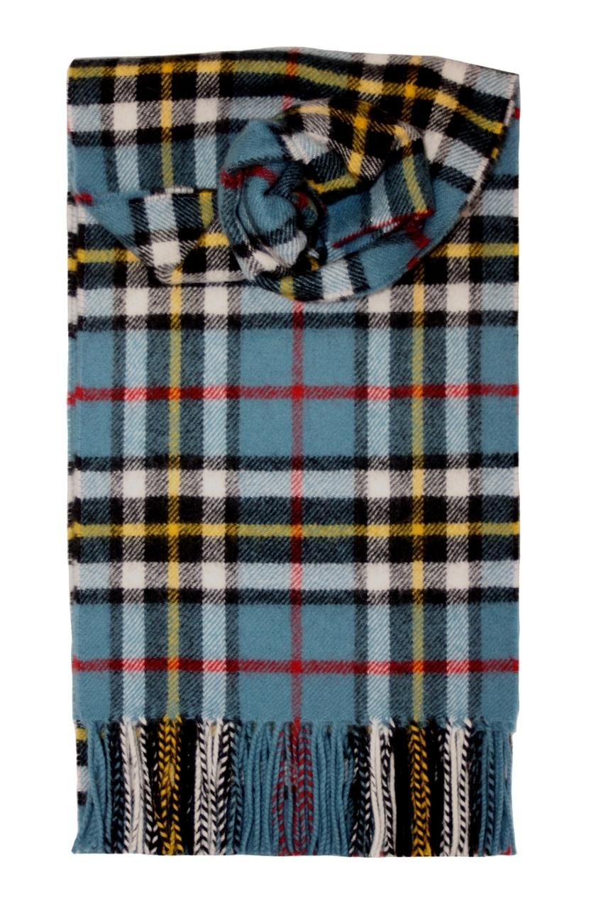 Lochcarron Blue Thomson Tartan Lambswool Scarf