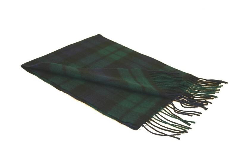 Lochcarron Black Watch Tartan Lambswool Scarf