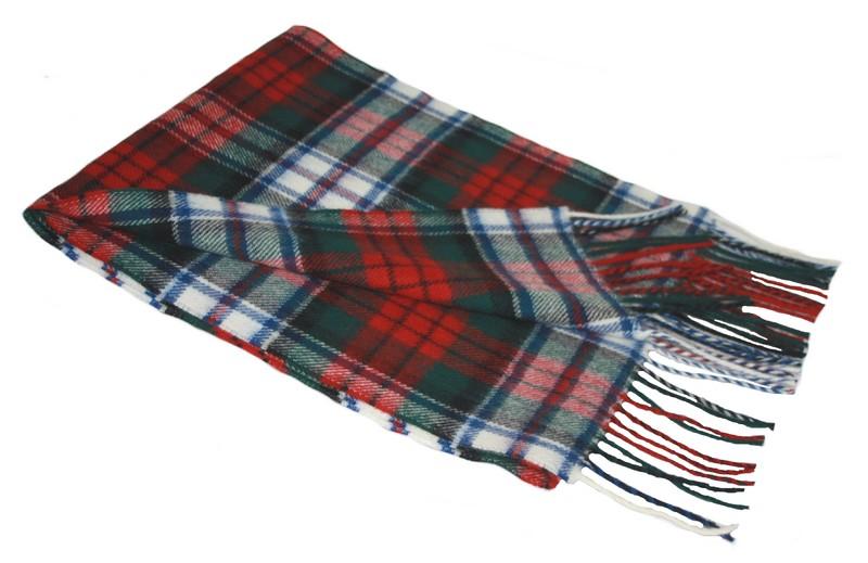 Lochcarron Dress MacDuff Tartan Lambswool Scarf