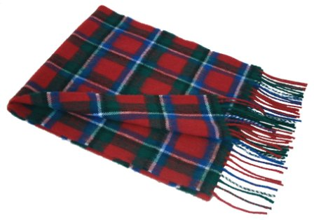 Lochcarron Red Sinclair Tartan Lambswool Scarf